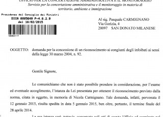 Domanda Carmignano Foibe
