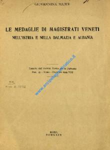 Le medaglie di magistrati veneti nell'Istria e nella Dalmazia e Albania_wL-01