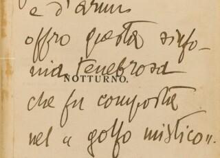 Toscanini Fiume Autografo DAnnunzio